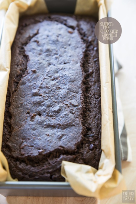 GF chocolate zucchini bread